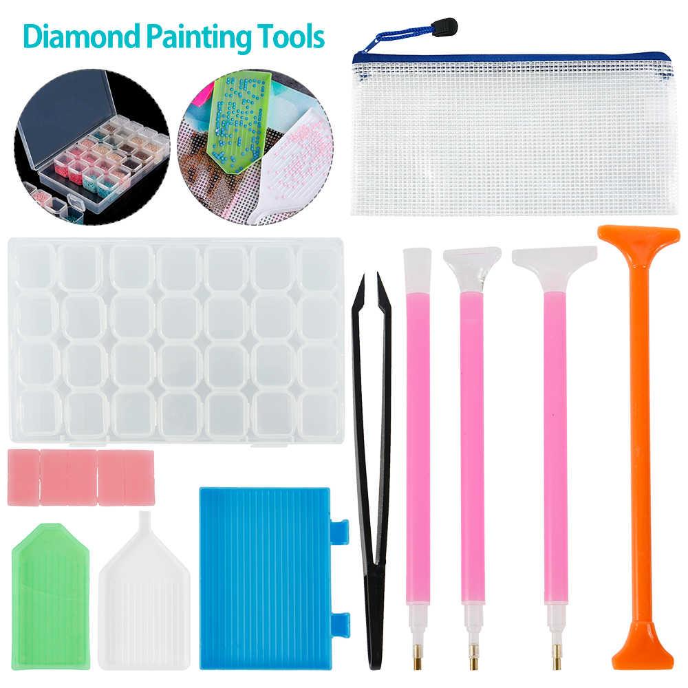5D Diamante Strumenti di Pittura e Accessori Kit Rullo di Penna Argilla Vassoio del Diamante di Stile Del Ricamo Vassoio Box set per Adulti o bambini