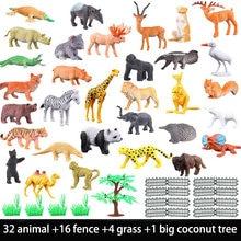 53pcs/set Mini Animal World Zoo Model Figure Action Toy Set Cartoon Simulation Animal Lovely Plastics Collection Toy For Kids