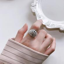 Filluck 100% Authentic 925 Sterling Silver Shell Shape Rings Minimalist High Quality Elegant Adjust