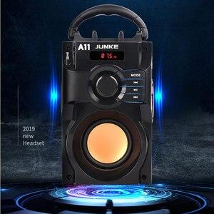 Image 2 - JUNKE 2.1 haut parleurs stéréo et Subwoofer Bluetooth haut parleur Portable sans fil haut parleur Mp3 système de son colonne dordinateur