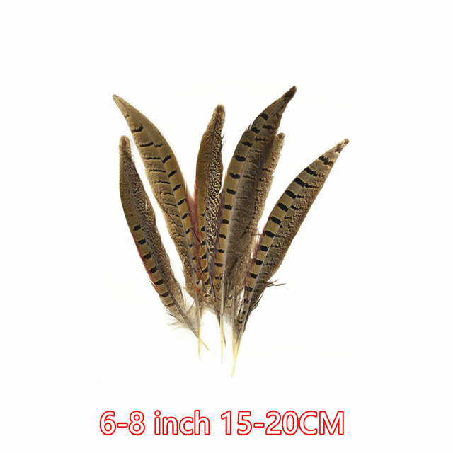 : 3877 50 Pieces Tail Feathers 10-12 NATURAL Ringneck Pheasant Tail Wholesale Feathers bulk