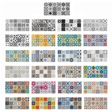 Tile Sticker Wall-Decals Living-Room Bathroom Kitchen Retro Waterproof Mosaic for 100x50cm