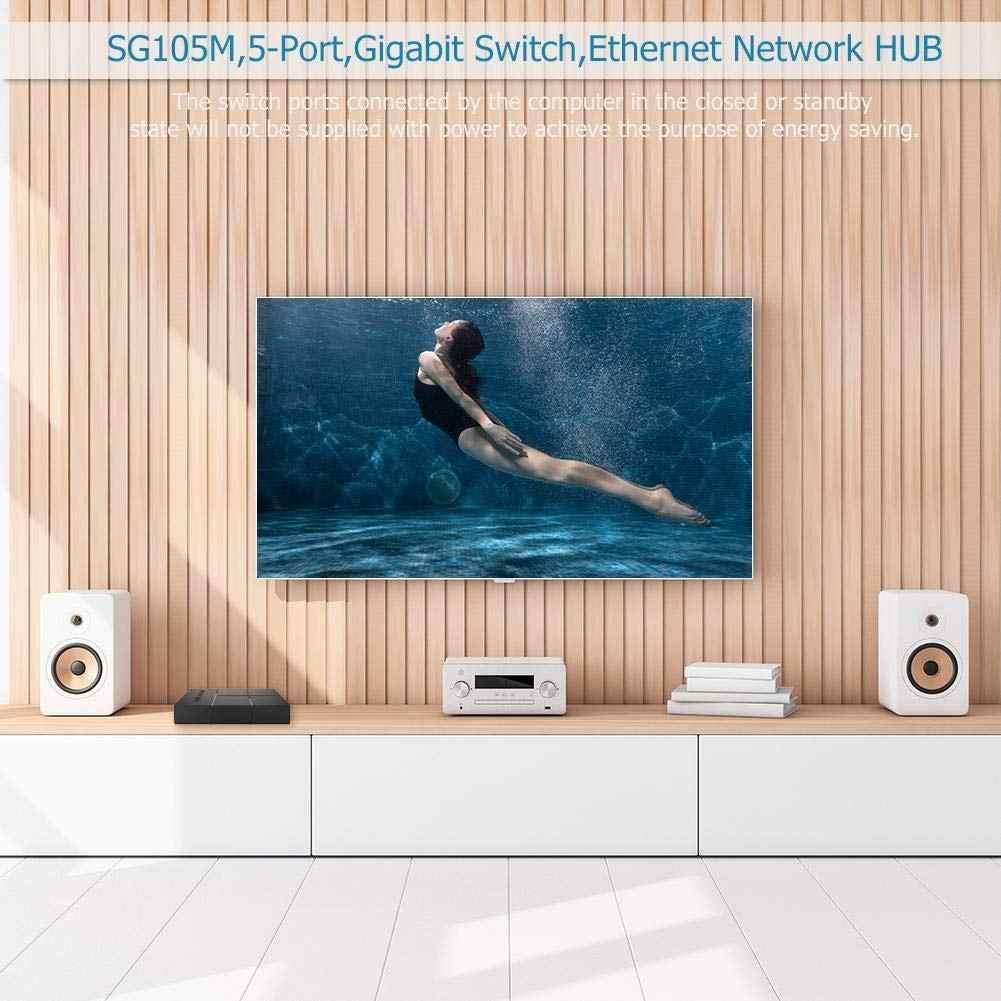 Switch Gigabit a 5 porte 10/100/1000Mbps RJ45 LAN Ethernet Switch di rete Desktop veloce Hub di commutazione con adattatore di alimentazione ue/usa