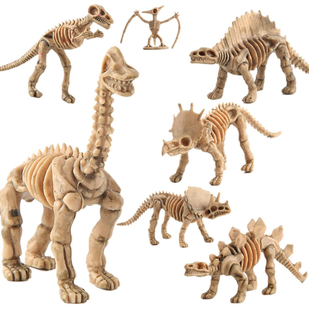 12Pcs Animal Model Toys 4D Simulation Dinosaur Figures Fossil Tyrannosaurus Assemble The Skeleton Model Toys Home Decoration