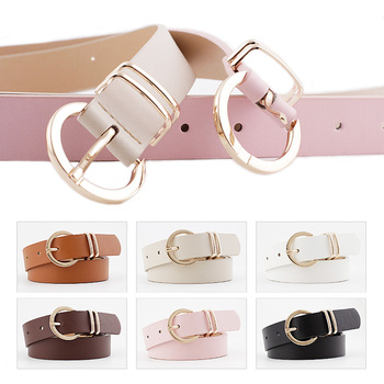New Women PU Leather Belts High Quality Metal Pin Buckle Designer Female Waist Belt Dress Jeans Trouser Decorative Waistband