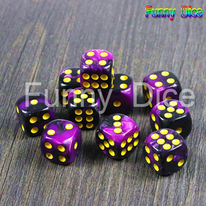 New Arrival!10pcs/set of 12mm D6 Gambling Dice with Gold Standard Dot As Tower Game Accessories for Gambling,Tablelop(China)