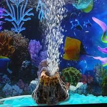 Вулкан для аквариума форма и воздушный пузырьковый камень кислородный насос аквариумный орнамент рыбные водные принадлежности украшения ...
