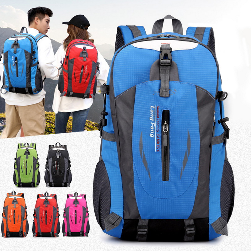 Adisputnt Men Women 40L Hiking Backpacks Waterproof Camping Bags Backpack Outdoor Travel Bags Outdoor Sports Mountaineering Bag