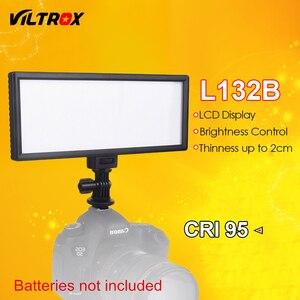 Светодиодный светильник Viltrox L132B для камеры, ультратонкий студийный светодиодный светильник с регулируемой яркостью и ЖК-дисплеем для цифр...