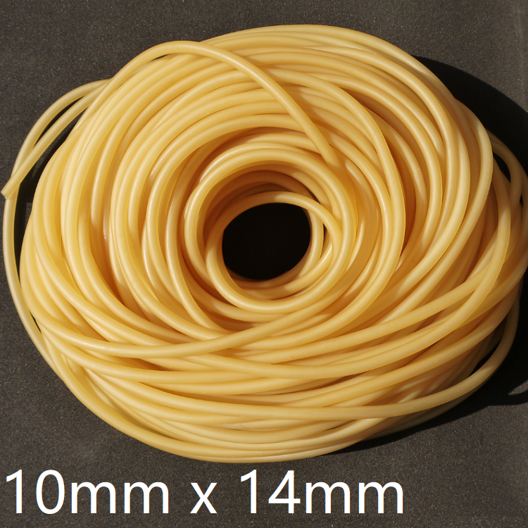 ID 10mm X 14mm OD Flexible Nature Latex Rubber Hoses Pipe High Resilient Elastic Surgical Medical Tube Soft Slingshot Catapult