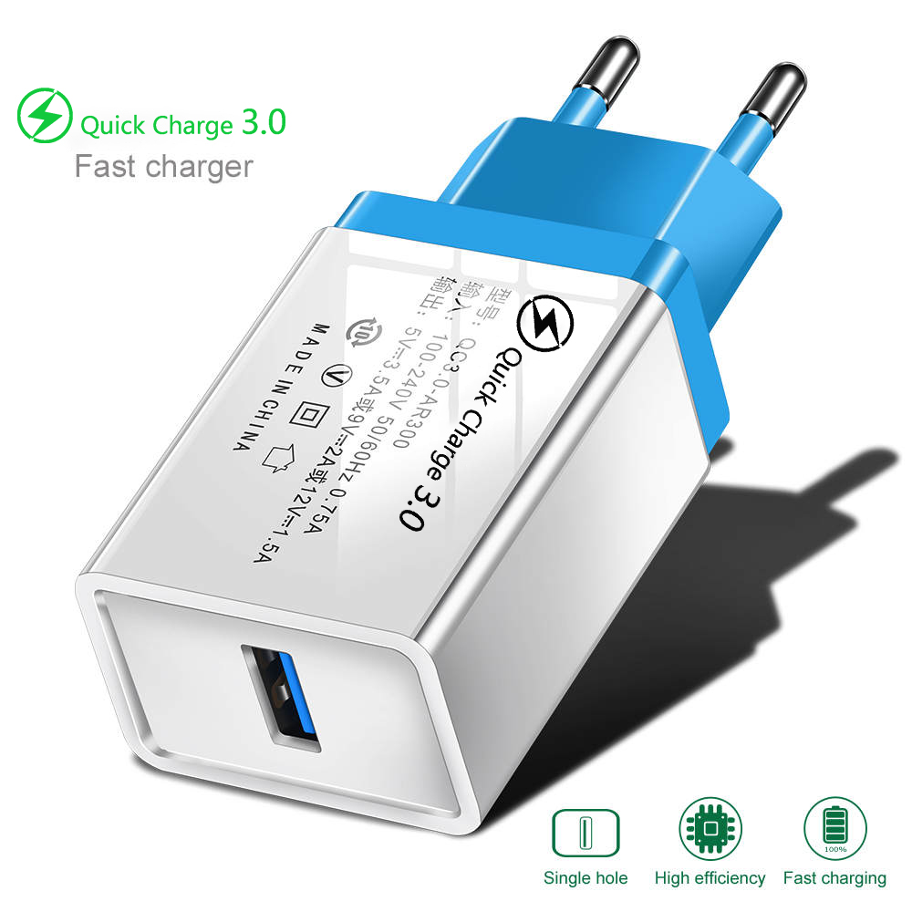 EU/US Adapter Quick Charge 3.0 USB Charger For iphone11 Samsung Huawei Fast charging Mobile Phone Accessories Type C Charger