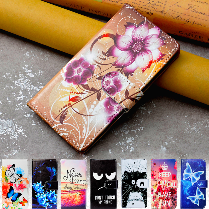 Print Flip Leather Cover For <font><b>Meizu</b></font> M6T M6s M6 M5c M5s M5 Note M9C <font><b>C9</b></font> <font><b>Pro</b></font> Case Silicone Wallet Cover TPU Cases Coque image