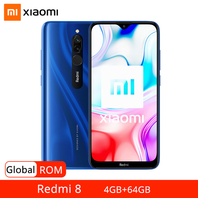 """Küresel ROM Xiaomi Redmi 8 4GB 64GB Smartphone Snapdragon 439 Octa çekirdek 12MP çift kamera 5000mAh pil 6.22 """"HD ekran"""