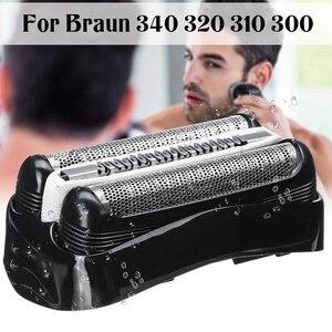XMX-Shaver Replacement Blade Foil Head for Braun Series 3 32B 3090Cc 3050Cc 3040S 3020 340 320 Male Shaver Razor Black Head Foil