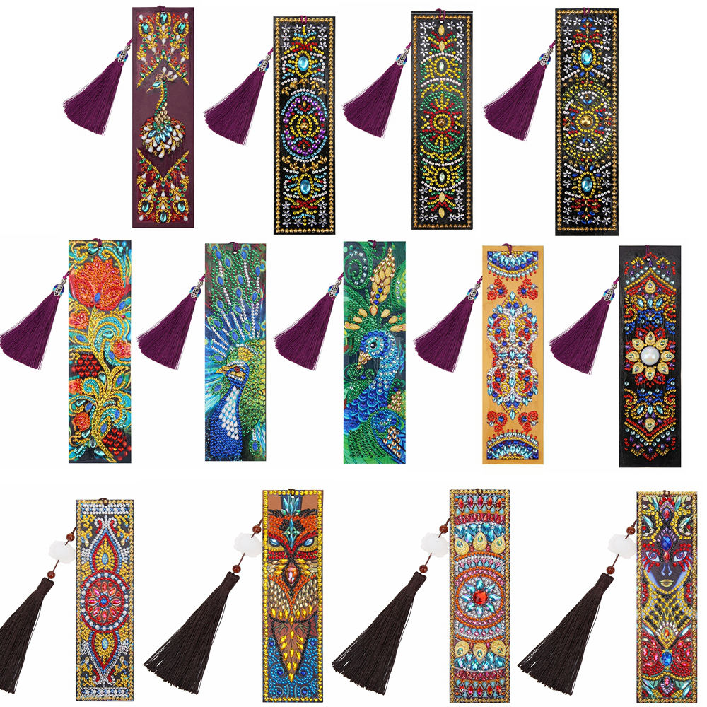 DIY Special Shaped Diamond Painting Bookmark Sticky Notes Tassel Book Marks Kit