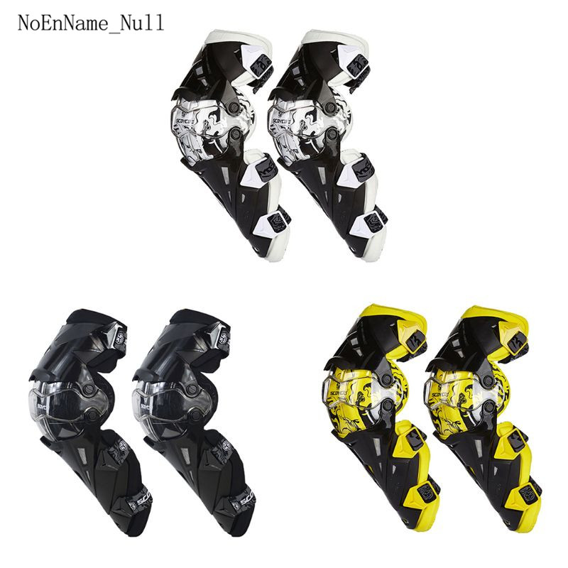 2pc Motorcycle Knee Pads CE Motocross Knee Guards Motorcycle Protection Knee Protector Racing Guards Safety Gears Race B