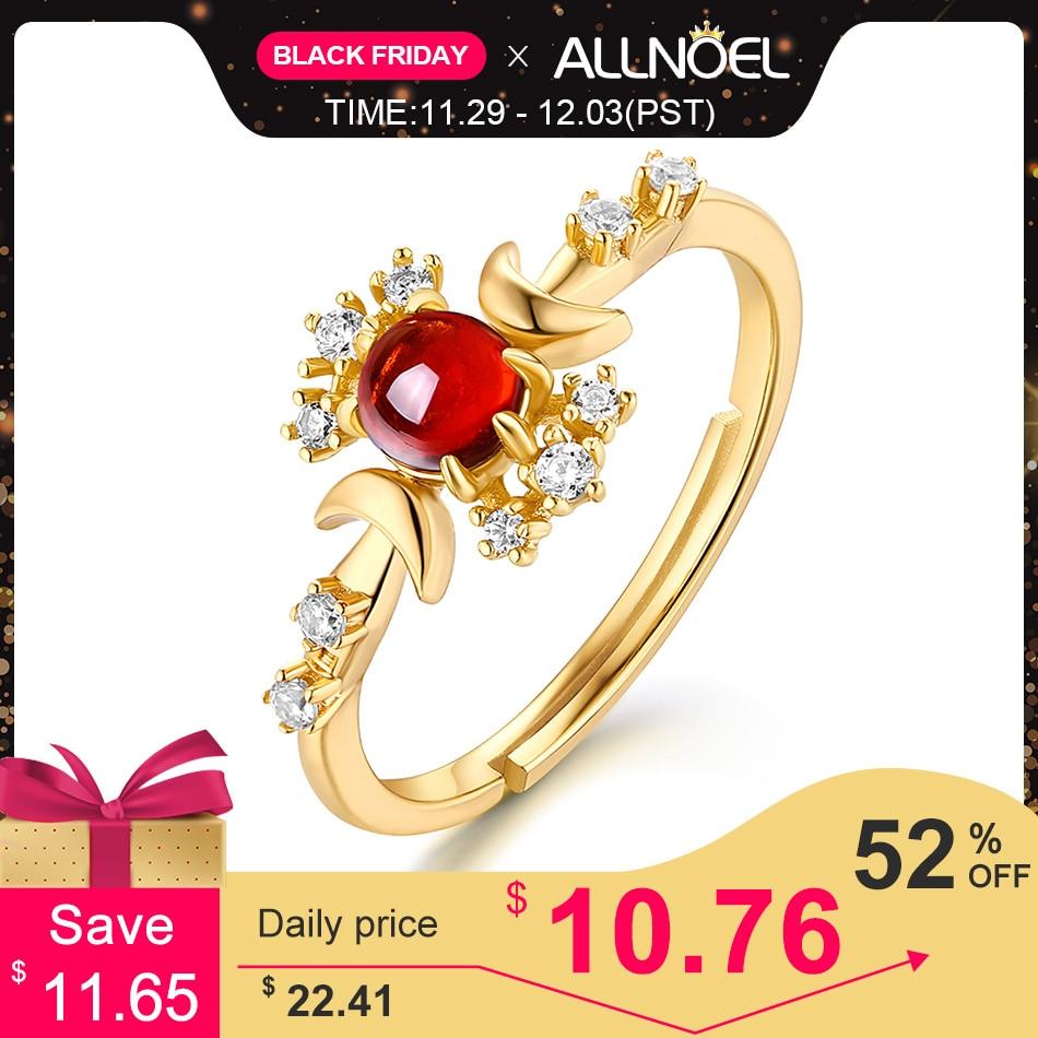 ALLNOEL Solid 925 Sterling Silver Vintage Ring For Women Natural Opal Blue Topaz Garnet Gemstone Rings  Engagement Fine Jewelry