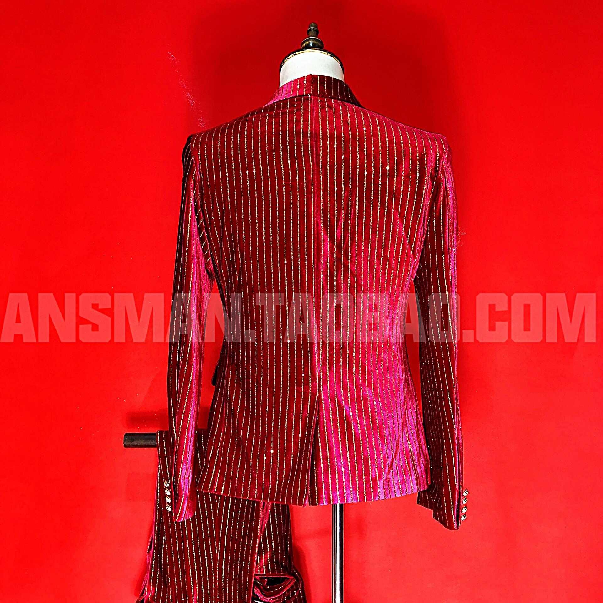 Nieuwe mens slim suits zwart navy rood goud fluwelen blazer trajes de hombre nachtclub bar zanger gastheer kostuums mariage homme