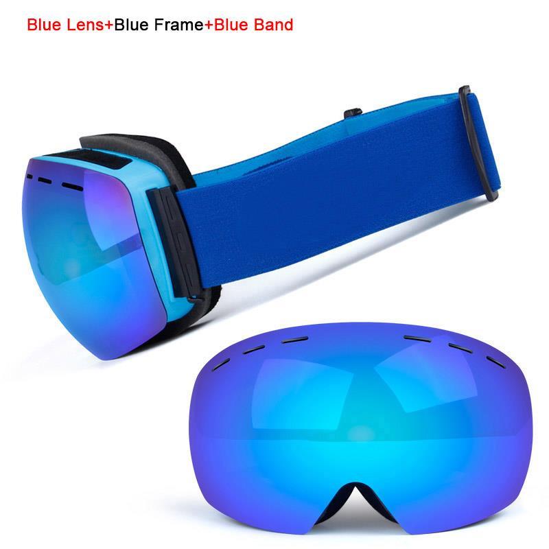 Ski Goggles UV400 Protection Snowboard Eyewear Anti-fog Big Ski Mask Glasses Snow Snowmobile Man Women Skiing Outdoor Sport 5