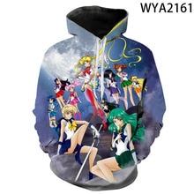 Sailor Moon Hoodies Men Women Children Chiba Mamoru Streetwear Cartoon Anime 3D Print Sweatshirt Harajuku Cool Boy Girl Pullover