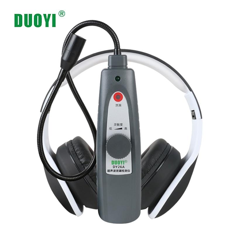 Duoyi DY26A Ultrasonic Kebocoran Alat Deteksi Gas Kebocoran Air Pressure Vacuum Probe Ultrasonic Transmitter Flaw Detector Stetoskop