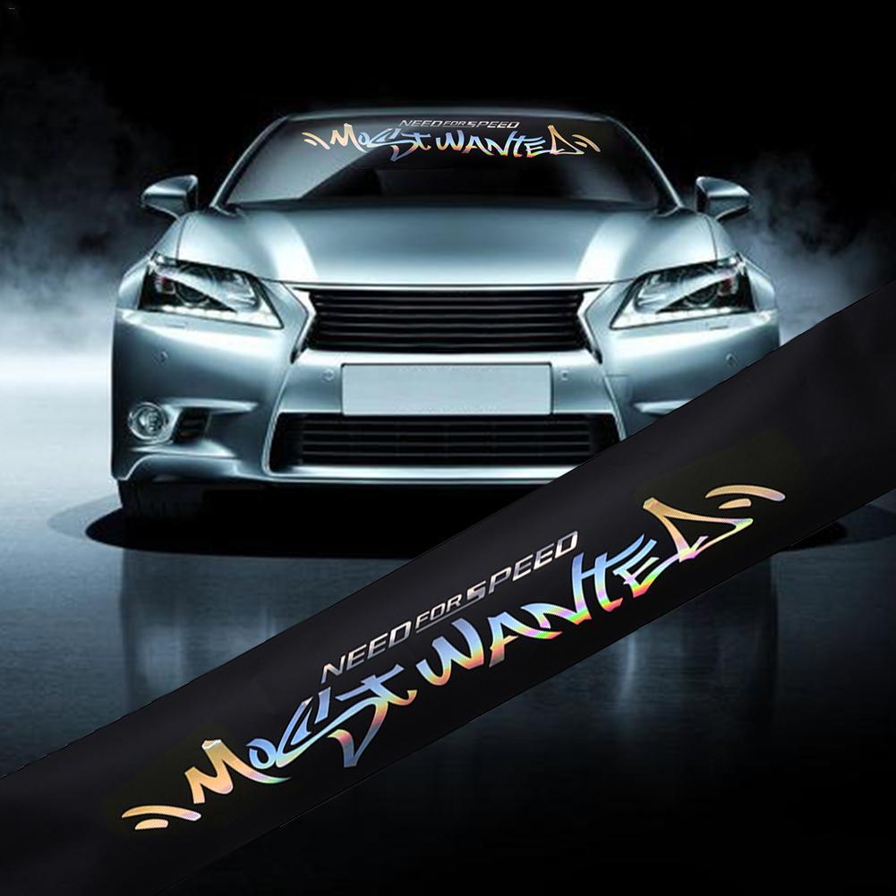 "6/""x60/""Car Vinyl Sun Strip Visor Windshield Banner Strip Reflective Decal Sticker"