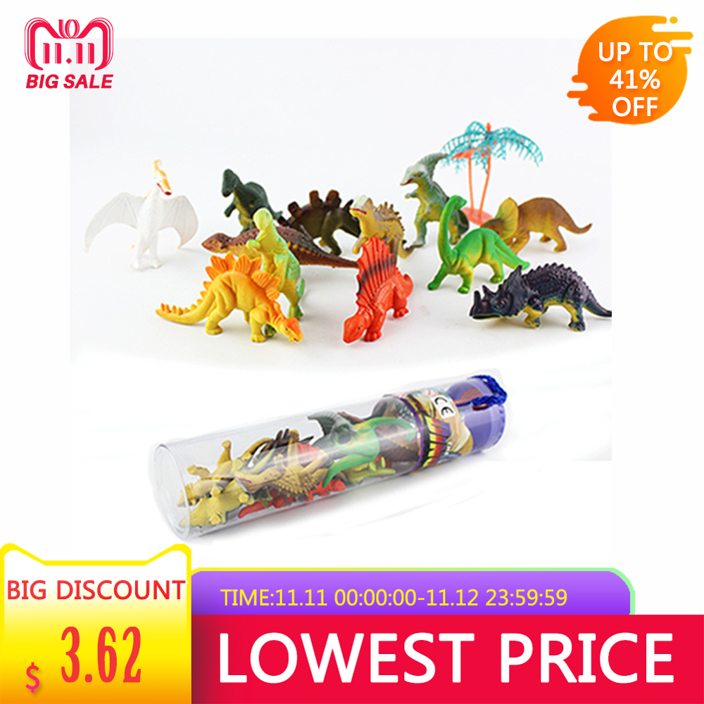 12pcs Mini Luminous Dinosaur Toy Jurassic Noctilucent Dinosaur Model Toys Kids Glow In The Dark Dinosaurs Best Gift For Boys