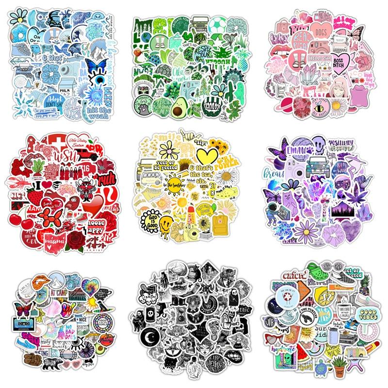 50pcs Vsco INS Style Sticker Anime For Laptop Case Car Skateboard Motorcycle Girl For Kids Children Toys Cool Animal Sticker F5
