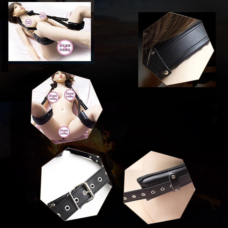 Садистский мазохизм PU Femdom BDSM Bondage набор игрушек с манжетами для секса для взрослых Эротическая игрушка для женщин аксессуары для пар 1