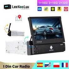 LeeKooLuu Android 1din Car Radio GPS Navigation Player 7'' Universal 1 Din Radio WiFi Bluetooth MP5 Car Multimedia Player NO DVD