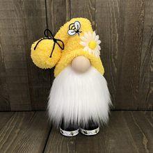 2021 paskalya yüzü olmayan bebek Bumble Bee çizgili Gnome İskandinav Tomte Nisse İsveç bal arısı Elfs yaşlı adam bebek hediyeleri oyuncaklar