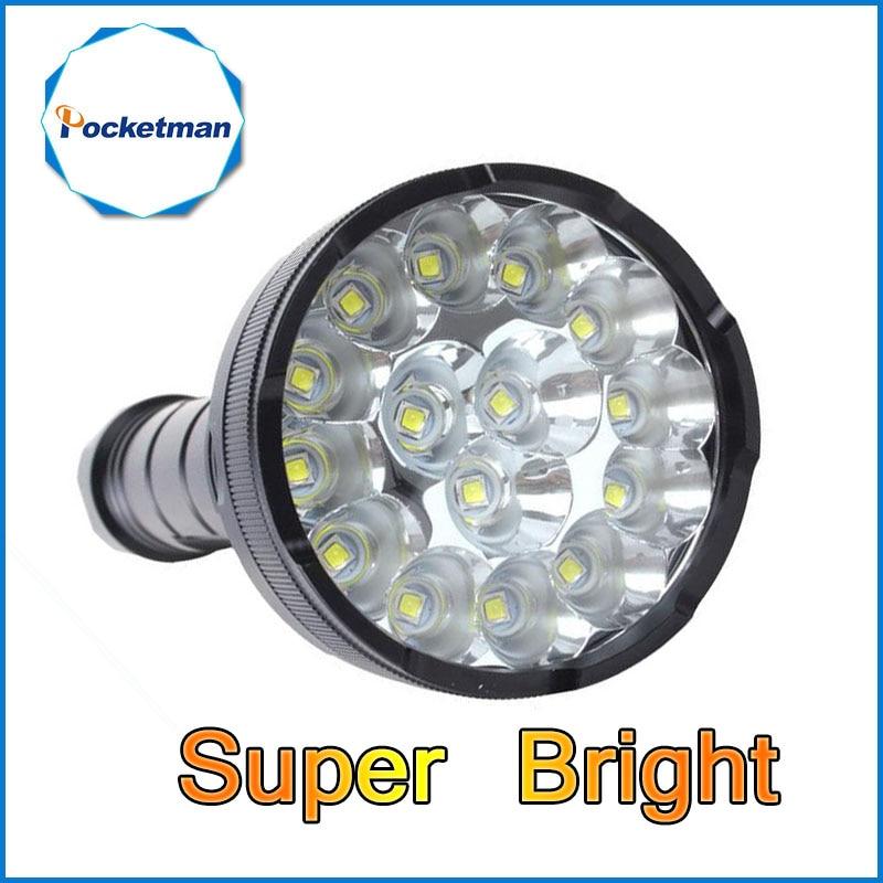Powerful LED Flashlights Lanterna Led Linternas Torch 15 X XM-T6 LED Waterproof Super Bright LED Flashlight