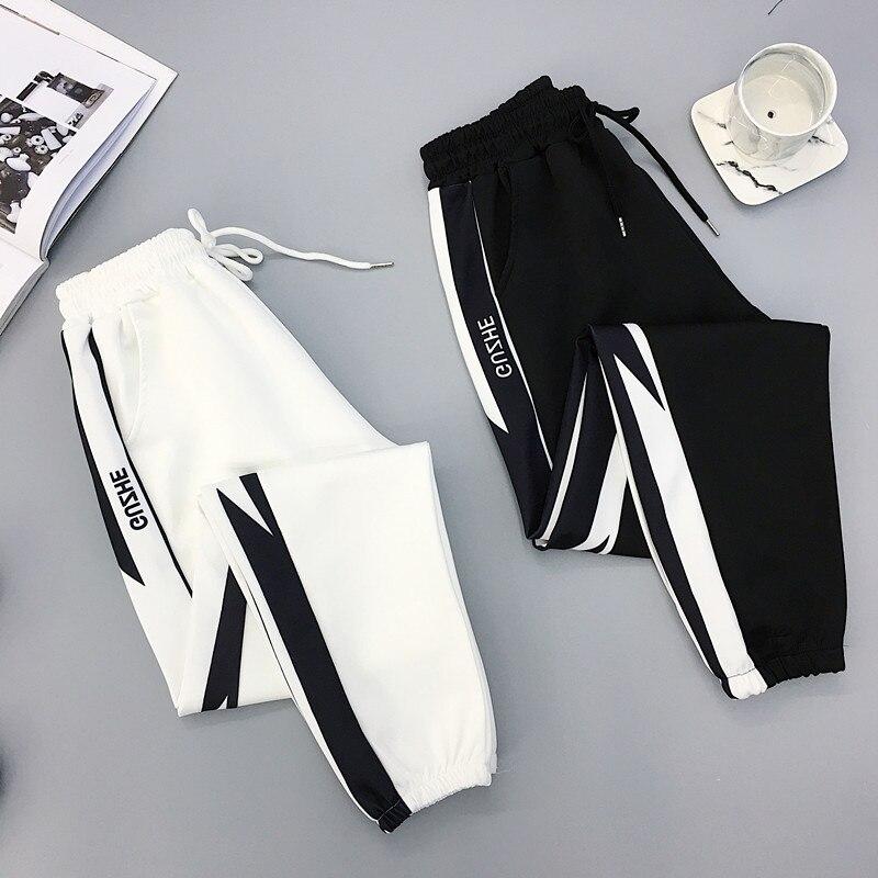 Autumn Hip Hop Sports Women Pants Plus Size 2XL Loose Harajuku Cargo Pants Women High waist Trousers Jogger Baggy Pants