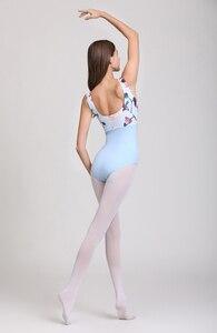Image 5 - Collant de balé com estampa rosa, collant collant de dança ginástica adulto de alta qualidade para mulheres verão 2020