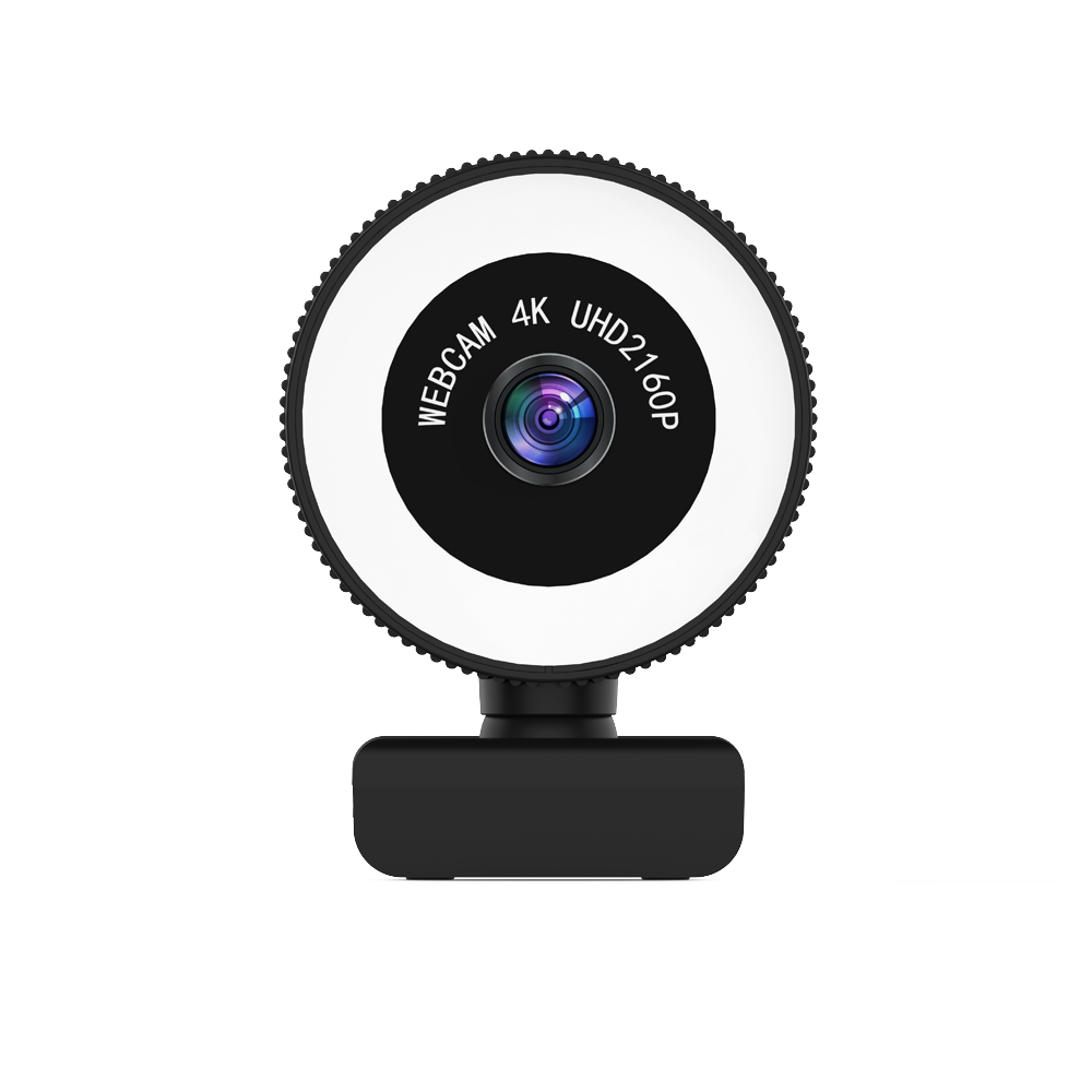 TISHRIC C560 Webcam 4K 120 ° Wide Angle Camera for Computer Web Cam Adjustable Brightness Fill Lamp Web Camera with Microphone 1