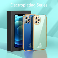 Luxury For iPhone 12 Pro max 11 Pro 7 8 plus X XR XS Max Mini Lens Protection Shockproof Electroplated Plated Plating Phone Case