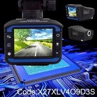 Car Auto Radar Detectors 3 In 1 Russian Voice GPS Track Recorder DVR Mirror Laser Speed Detector Full HD Camera Dash Cam Fixed