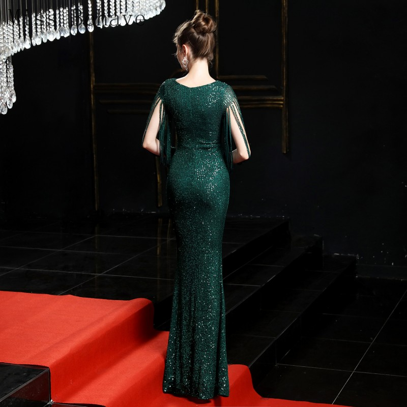 DD JYOY Mermaid Evening Gown for Women Dress Elegant Long Sleeve Unlque Design robe soiree Zipper Back 6 Colors In Stock
