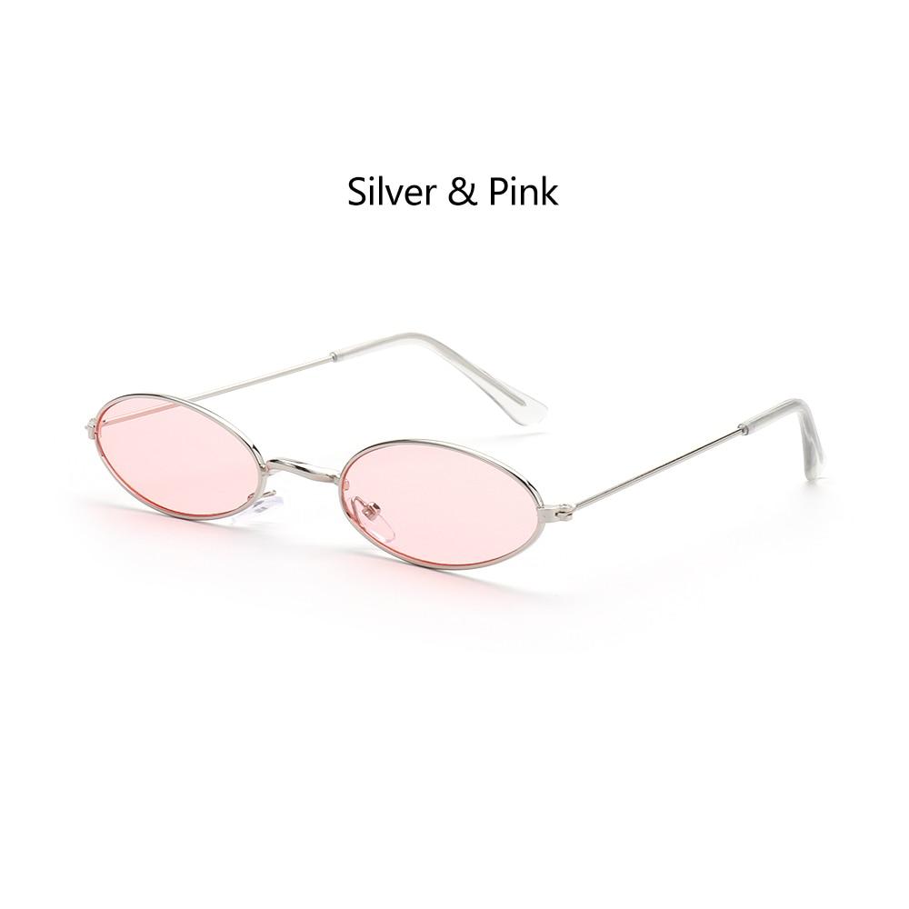 Fashion Vintage Shades Sun Glasses Elegant okulary Retro Small Oval Sunglasses for Men Women Eyeglasses gafas oculos 20