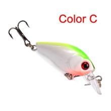 1pcs/ wholesale/ The New Bait chubby plastic hard bait 4.5cm/3.5g  Fishing crank artificial fishing acces