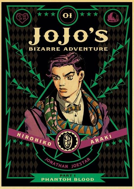 classic Anime JoJo's Bizarre Adventure JOJO Poster Action Anime retro Poster Painting Wall Art for Living Room /Bar Decor poster 2