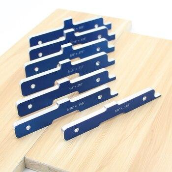 Woodworking Precision Router Table Setup Bars Aluminum Alloy Depth Test Distance Set Up Bars 7pcs/Set