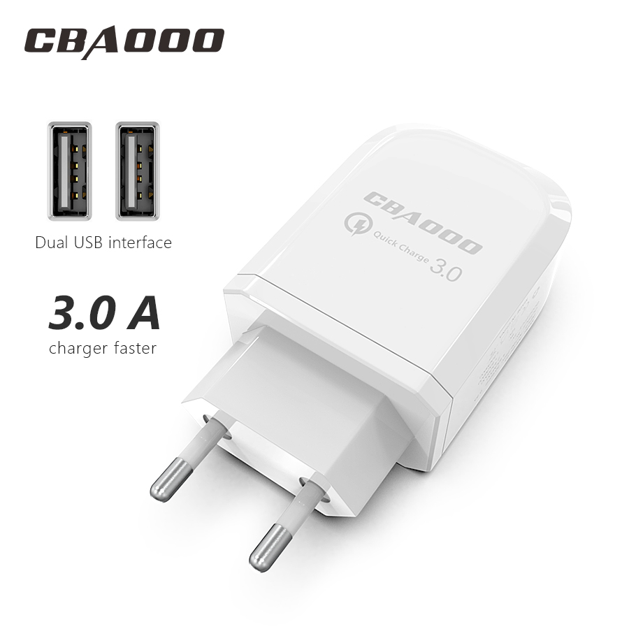 CBAOOO USB Charger 2-Poort USB Wall Charger EU Plug Mobiele Telefoon USB Lader Snel Opladen Lader For a iPhone 6 Samsung