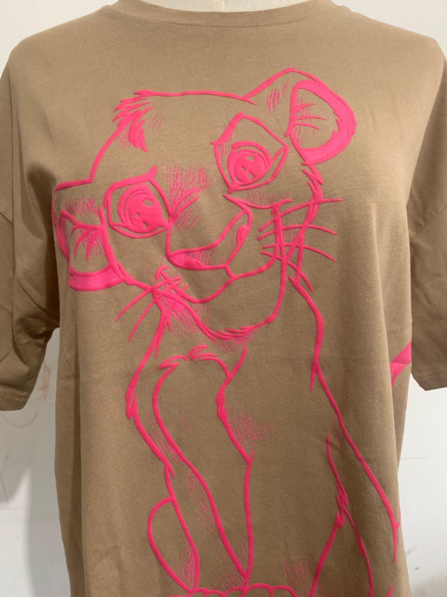 H1af38f08310b49dbb44a2458f2ae05e1O Disney Family T-Shirt Fashion Winnie the Pooh Mickey Mouse Stitch Fairy Dumbo SIMBA Cartoon Print Women T-Shirt Cotton Tee s