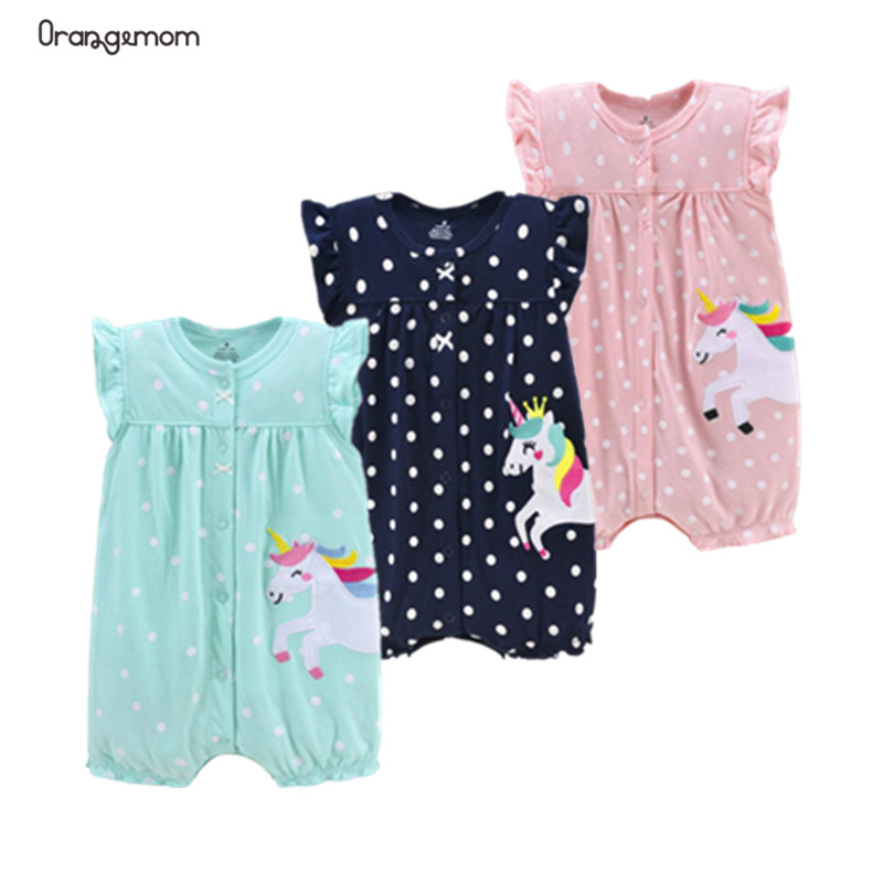 Orangemom Brand Summer Baby Rompers Short Sleeve Baby Girls Clothing Kids Jumpsuits Newborn Baby Clothes For Girl Roupas vestido