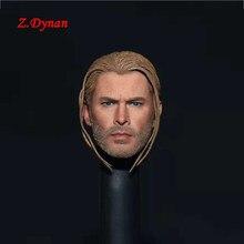 1/6 skala mężczyzna bohater człowiek chłopiec głowa Thor Braid szef Sculpt zabawki modele Fit 12