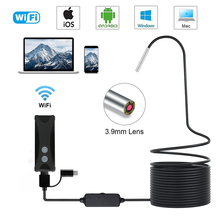 3.9MM WIFI Endoscope Camera IP67 Waterproof Snake Camera with 6 Led for Android iPhone iOS PC endoscopio Borescope endoskop