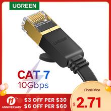 Ugreen kabel Ethernet RJ45 Cat7 przewód Lan UTP RJ 45 kabel sieciowy do Cat6 kompatybilny Patch przewód do Router modemu kabla Ethernet tanie tanio NW106 NW107 Rohs CN (pochodzenie) Ethernet cable Lan cable Cat7 cable RJ45 cable For Xbox One 360 For PS4 For smart TV For wireless router