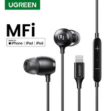 Проводные наушники ugreen для iphone сертифицированные mfi вкладыши