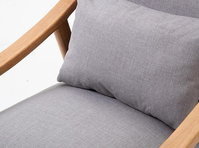 Solid Wood Sofa Armchair  3